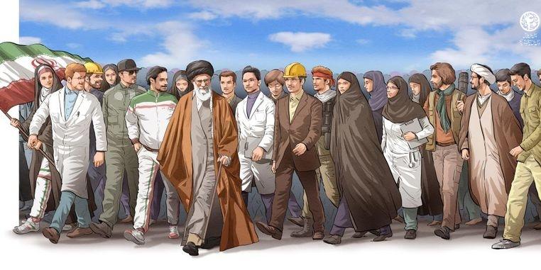 بیانیه رهبری انقلاب خطاب به ملت بویژه جوانان/40 سالگی