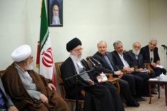 دیدار اعضای مسئولان شهر،و شهرداری تهران با رهبر معظم انقلاب