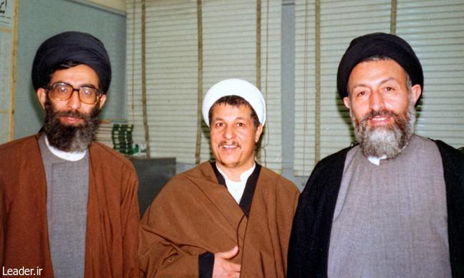 رهبر معظم انقلاب اسلامی و آیت الله هاشمی رفسنجانی