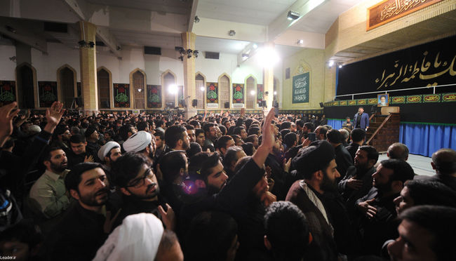 آخرین شب عزاداری فاطمیه در حسینیه ی امام خمینی(ره)