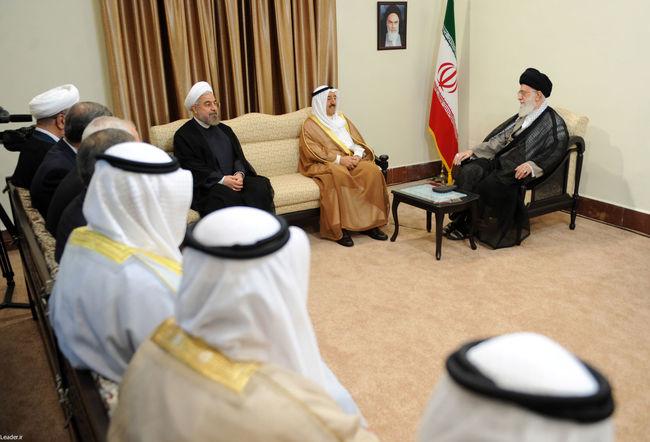 دیدار امیر کویت و هیئت همراه
