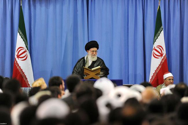 رهبر معظم انقلاب در دیدار اساتید، قاریان و حافظان مسابقات بینالمللی قرآن کریم