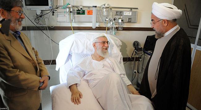 عیادت رئیس جمهور از رهبر انقلاب در بازگشت از سفر پنج روزه به دو کشور آسیای میانه